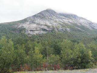 berg, utsikt från tält