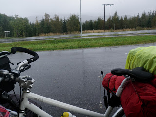 cykel, packning, regn