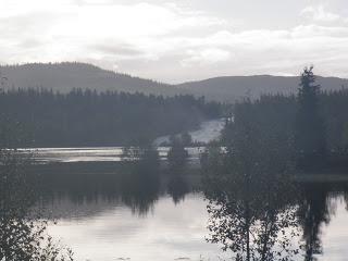 strömmande vatten, sjö, fors