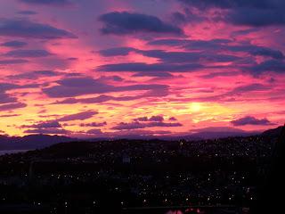 Soluppgång över Trondheim