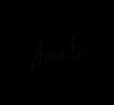 Fotograf Anna E G, logga, 190217, PNG vattenstämpel svart